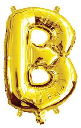 Gold Foil Letter Balloon ' B '