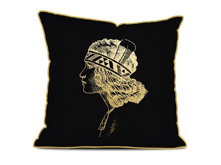 Gold Foil Wahine Cushion 450 x 450mm