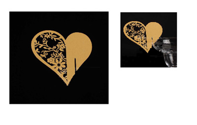 Gold Heart Shaped Name Place Cards - pack of 10