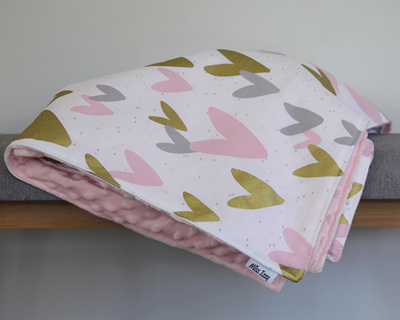 Gold Hearts Blanket