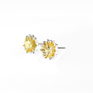 gold kina sea urchin star sterling silver studs tiny delicate everyday