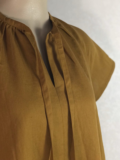 Gold linen Haru dress