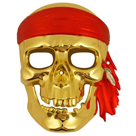 Gold Pirate Skull Mask
