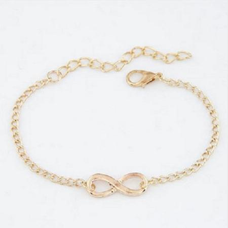 Gold Plated Infinity Bracelet