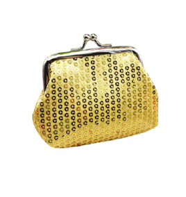 Gold Sequined Coin Purse