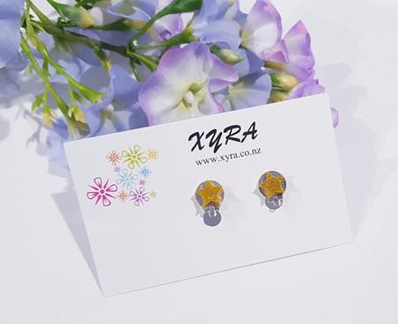 Gold Star Clip-on Earrings