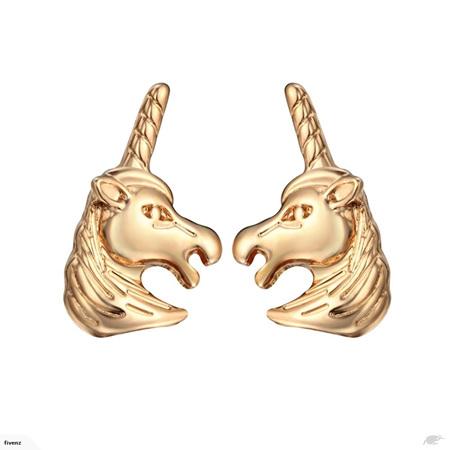 GOLD UNICORN EARRINGS!
