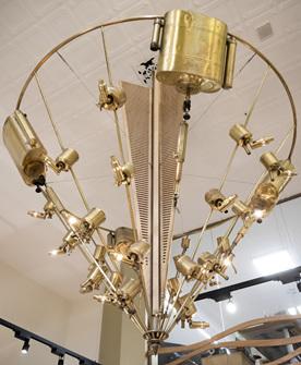 Golden Chandelier in The Village Goldsmith Wellington Shop