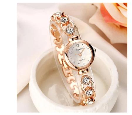 Golden Crystal Rhinestone Women's Bracelet Watch