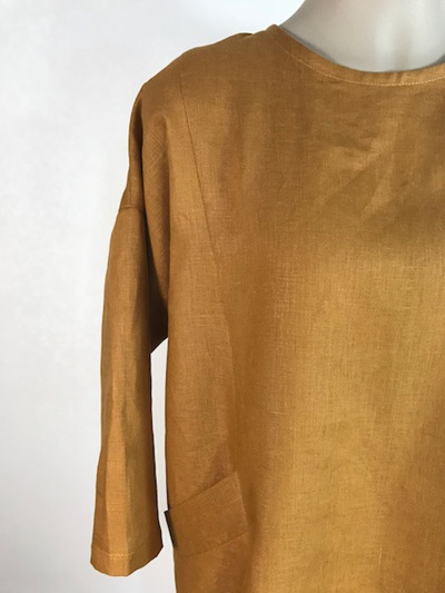 Golden linen Rudy dress