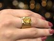 Golden Sapphire Ring