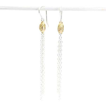 Golden Seed Tassel Earrings