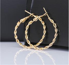 Golden Spiral Hoop Earrings