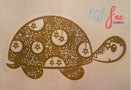 Golden Turtle Doodle Heat Press Vinyl