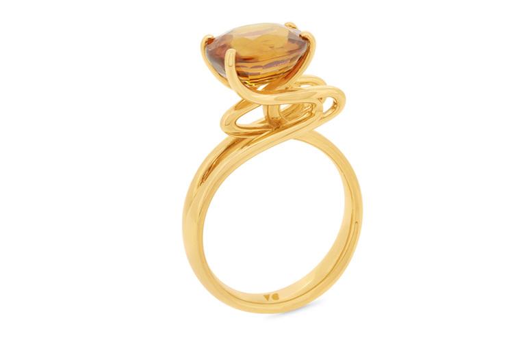 Golden Zircon Ring