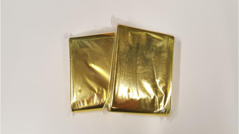 Gold/Silver Thermal Blanket (2Pk)