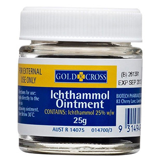 GOLDX ICHTHAMMOL OINT 25% 25G