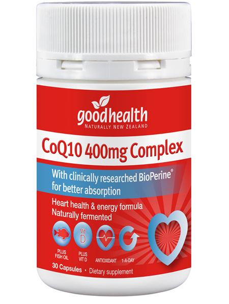 Good Health - CoQ10 400mg Complex - 30 Capsules