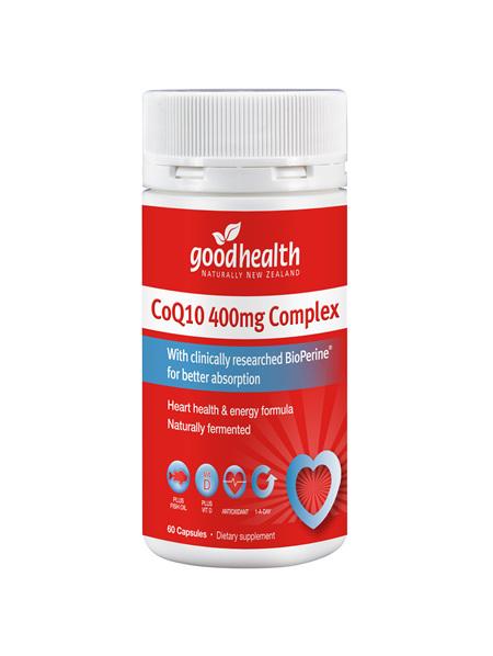 Good Health - CoQ10 400mg Complex - 60 Capsules