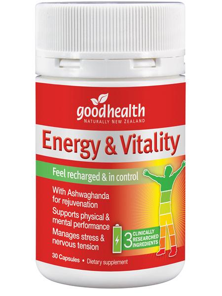 Good Health - Energy & Vitality - 30 Capsules