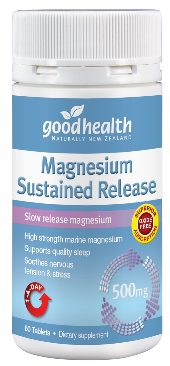 Good Health - Magnesium Sustained Release 500mg - 60 tablets