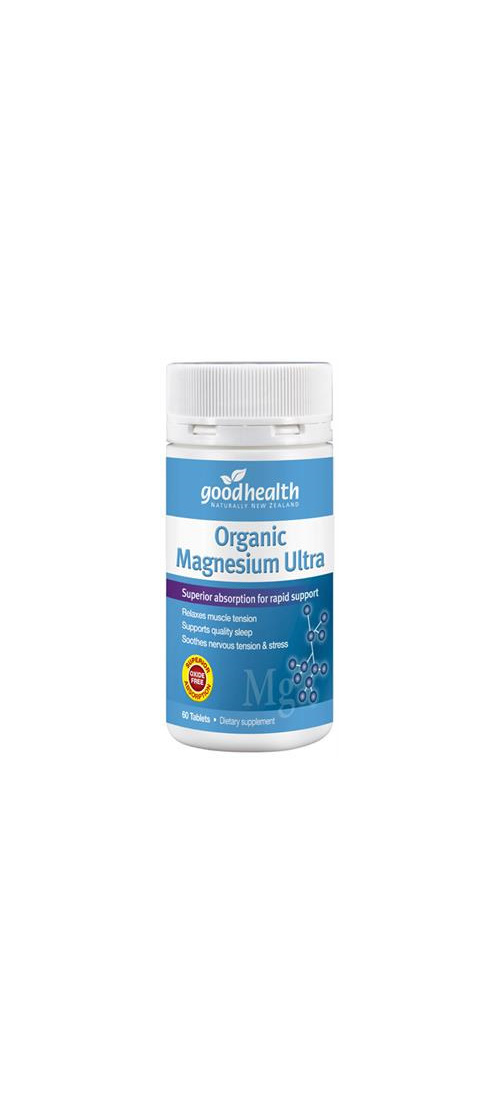 Good Health NZ Magnesium ultra™ - 120 tabs (60 tablets in photo)