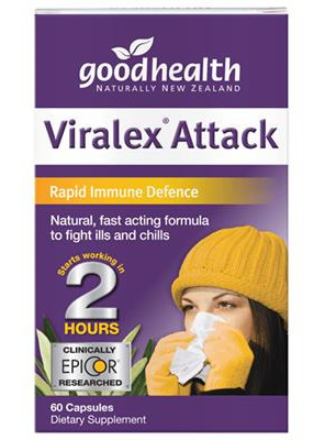Good Health NZ Viralex Attack - 30 capsules (60 capsules in picture)