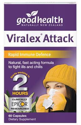 Good Health NZ Viralex Attack - 30 capsules (60 capsules in picture)