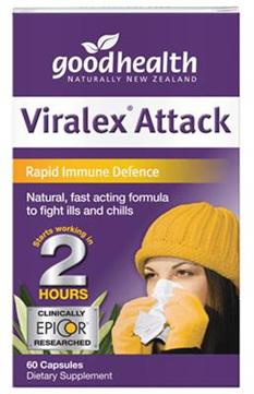 Good Health NZ Viralex Attack  30 capsules 60 capsules in picture