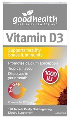 Good Health Nz Vitamin D3 1000Iu - 60 Tabs