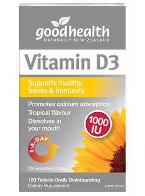 Good Health Nz Vitamin D3 1000Iu - 60 Tabs