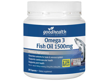 Good Health - Omega 3 Fish Oil 1500mg - 200 Capsules