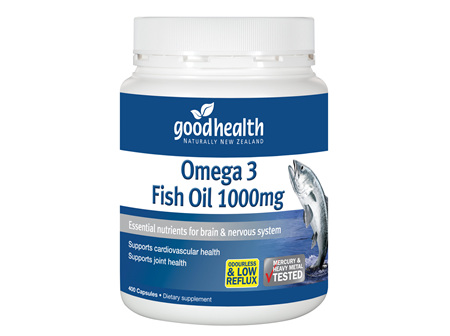 Good Health - Omega 3 Fish Oil - 400 Capsules