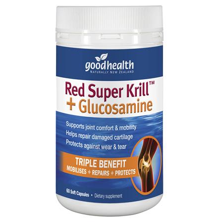 Good Health - Red Super Krill+ Glucosamine - 60 Capsules