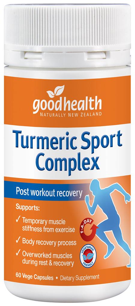 Good Health - Turmeric Sports Complex - 60 Capsules