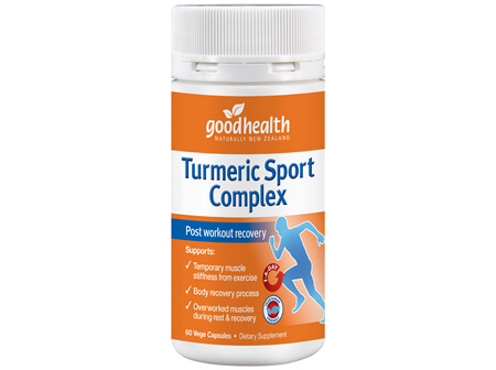 Good Health - Turmeric Sports Complex - 60 Capsules