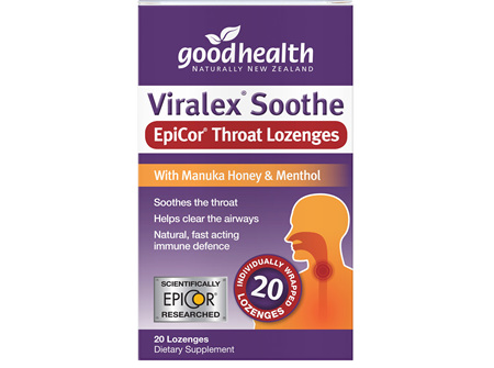 Good Health - Viralex Soothe EpiCor Throat Lozenges