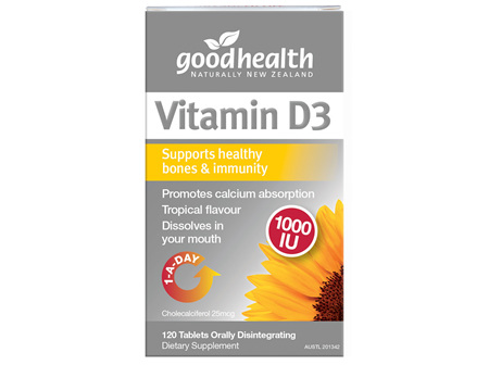 Good Health - Vitamin D3 - 120 Tablets