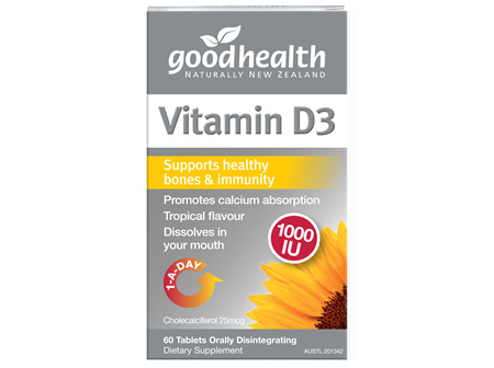 Good Health - Vitamin D3 - 60 Tablets
