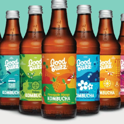 Goodbuzz Kombucha Mixed Flavours -  328ml