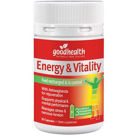 GOODHEALTH Energy & Vitality Support 30cap