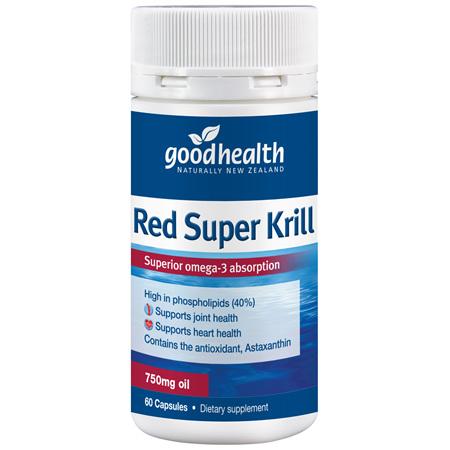 GOODHEALTH Red Super Krill 750mg 60caps