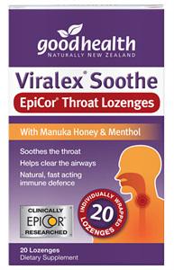Goodhealth Viralex Soothe Throat Lozenges (20 loz)