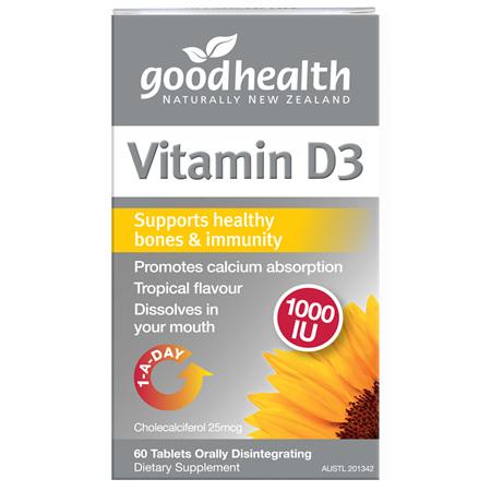 GOODHEALTH Vitamin D3 1000IU 60tabs