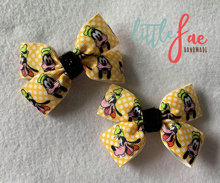 Goofy yellow hairbows