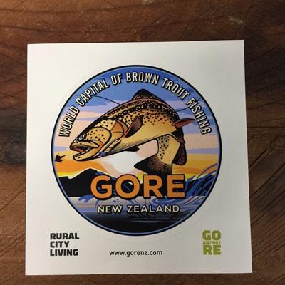 Gore NZ fishing sticker