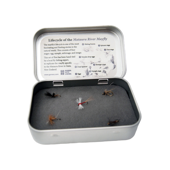 Gore NZ Fly Fishing Tin by David Murray