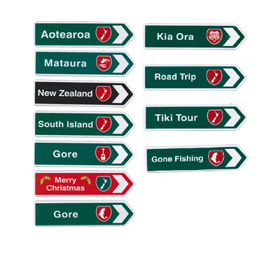 Gore NZ Traffic Road Sign Magnets