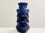 Gorgeous Vintage Cobalt Blue West German Vase by Scheurich