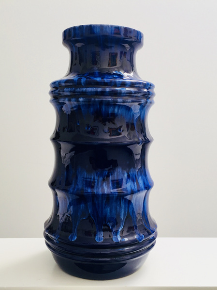 Gorgeous Vintage Cobalt Blue West German Vase by Scheurich